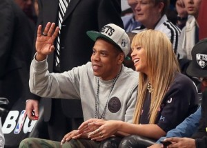 Jay Z/Beyonce Courtside